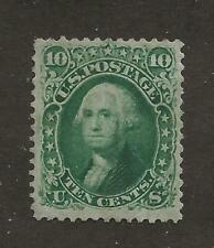 US Stamp #68 1861 Green 10c Washington Perf 12 Mint OG LH SCV $950