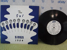 """The 8 'N 1 Sings 1954, Trans Radio Records TR 782, 10"""" 33, Glee Club, 8 and 1"""