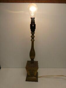 VINTAGE CLASSICAL LAMP BASE ORNATE CAST BRASS