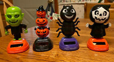 Solar Powered Bobble head Dancing Toy New - Set Of 4 Halloween - New 2020