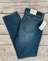 LRL Ralph Lauren Ocean Blue Premier Straight Super Stretch Mid-Rise Jeans 4P NWT