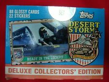 1991 TOPPS DESERT STORM  COMPLETE FACTORY SEALED SET 88 CARDS 22 STICKERS *L@@K*