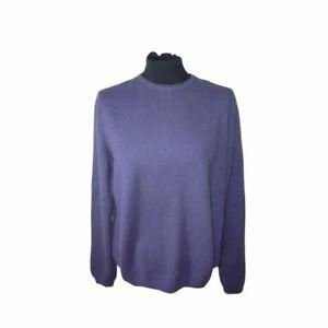 Designer Brodie 100% Cashmere Jumper Purple Size Large UK 12