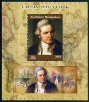 Madagascar 2018 MNH Captain James Cook 1v M/S Exploration Boat Ships Stamps