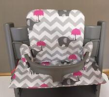Cushion to fit Stokke Tripp Trapp High Chair pink balloon BNIB