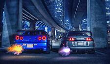 Nissan Skyline Vs Toyota Supra XXL OVER 1 METER WIDE 1 PIECE Glossy Art Poster!!