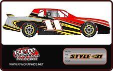 Race Car Wrap, imca,4 cyl,streetstock,late model,openwheels, graphics, wrap, ect