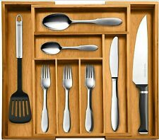 100% Pure Bamboo Expandable, Utensil - Cutlery and Utility Drawer Organizer