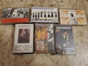 LOT of 6 10,000 MANIACS Cassette Tape OG Natalie Merchant ALTERNATIVE EXC. COND.