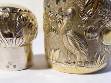 "Qualità 1893 cinesi Repousse cineserie dorati argento profumo bottiglia profumo 4"""