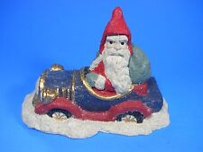 """Midwest of Cannon Falls Santa in a convertible Car Crackle Design 7"""" Paperweight"""