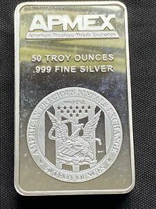 50 oz Silver Bar - APMEX