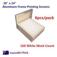 50 x 60cm 6PACK Aluminum Frame Printing Screens 64T / 160 White Mesh Count AUS