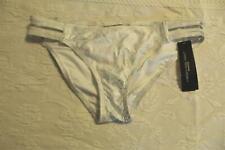 Carmen Marc Valvo Women's Double Strap Metallic Bikini Bottom SV3 White Large