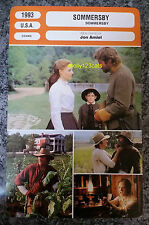 US Romantic Drama Sommersby Richard Gere Jodie Foster French Film Trade Card