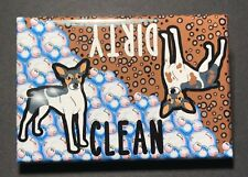 Rat Terrier Dog Clean Dirty Dishwasher Magnet Kitchen Cleaning Accessories Decor