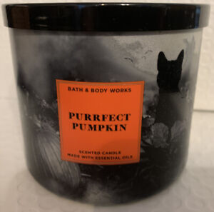 Bath And Body Works Purrfect  Pumpkin 3-wick Candle