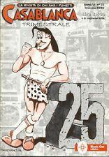 CASABLANCA n° 25 (Black Out, 1994) fanzine fumetti
