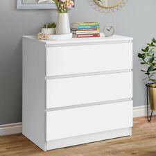 Chest of Drawers Bedside Table 3-Drawer Chest, Nightstand Storage for Bedroom