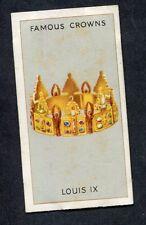Godfrey Phillips - 1938 Famous Crowns - No7 Louis IX