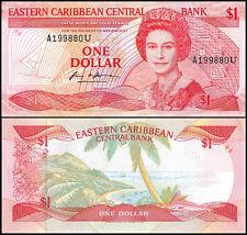 East Caribbean State 1 Dollar, 1988, P-21u, UNC, Queen Elizabeth II (QEII)