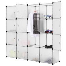 Modern 16- Box DIY Kleiderschrank Regalsystem Garderobe Schuhregal mit Türen WOW