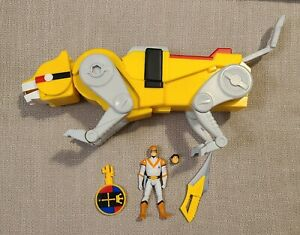 Voltron Club Lion Force Yellow Lion & Hunk Figure Mattel Matty Collector