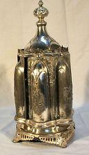American Gothic Silverplate Cruet Stand Roswell Gleason Dorchester Ma 1860