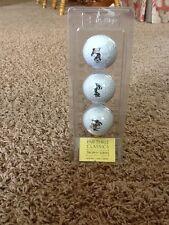 Par Three 3 Classics Trophy Series 3 Pack Disney Golf Balls RARE!