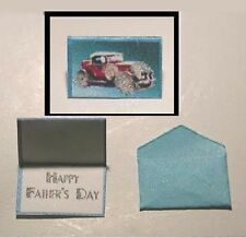 FATHER/'S DAY CARD WITH GLITTER /& ENVELOPE Dollhouse Miniature 1:12 Scale