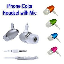 3.5mm Fashion Bronze Color Stereo Headset For iPhone & Cellular Device