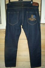 VIVIENNE WESTWOOD MENS ANGLOMANIA JEANS  34W 32L skull and crossbones