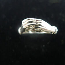 Carrera Y Carrera Ring Two Hands 6 Diamonds 18k White Gold Ring Size 6.0