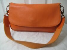 LONGCHAMP Orange Pebbled Leather  Hobo Bag.