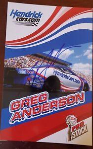 2021 NEW Autograph Picture NHRA Greg Anderson Hendrickcars.com Camaro