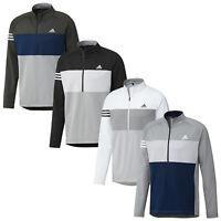 Adidas Mens Competition Half Zip Sweatshirt UPF50 Stretch Long Sleeve Golf Top