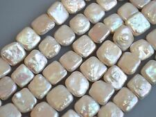 10 to 12 mm AA Natural White Square Flat Freshwater Pearls, Square Pearls (#115)