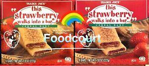 2 Packs Trader Joe's This Strawberry Walks Into A Bar Cereal Bars 7.8 oz Each