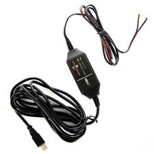 Hard Wire Power Adapter 12v to 5v Cord Cable MICROUSB for Car GPS DVR Dash Cam