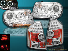 05-07 CHRYSLER 300C/SRT8 PROJECTOR HEADLIGHTS CHROME HALO CCFL & LED TAIL LIGHTS