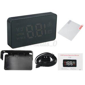 3.5'' OBD HUD Digital Head Up Display Car Van Speedometer Projector Speed Alarm