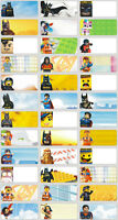 45pcs LEGO HERO PERSONALISED NAME STICKERS, TAG, LABELS
