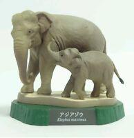 RARE Kaiyodo Higashiyama Zoo Asian Elephant and Calf Exclusive Figure Model