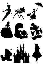 Disney Silhouette Edible Icing Decor for Cakes