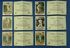 NABISCO 1993 All Star Autographs W/COA - Lot of SIX (6) Cards - FIVE (5) Players