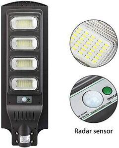 Lampione stradale faro led 90w 120w con pannello solare luce fredda crepuscolare