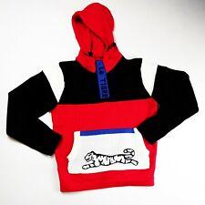 Le tigre mens 100%authentic L/S knit fancy hoodie size Medium multicolor logo
