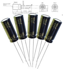 5x Panasonic FC 1800uF 6.3v Radial Aluminum capacitors 3000hrs @ 105C, 10 X 25mm