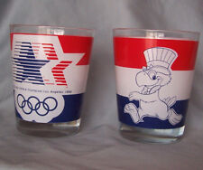 LOT 2 Vintage 1984 Los Angeles Olympic Eagle Juice glasses. Vintage Patriotic