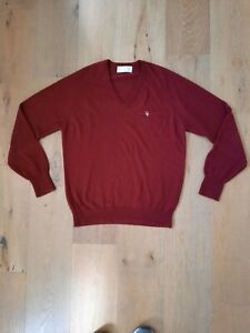 90's Vintage Christian Dior Monsieur Knit Pullover Sweater Burgundy Authentic L